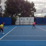 RT @BMATTEK: @MirzaSania and I at practice this morning getting in a few sets of doubles. @TheOfficial2XU http://t.co/FrebLBxr
