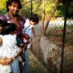 A day at the zoo in Tirupati with @ItsVishnuManchu , Ari and Vivi