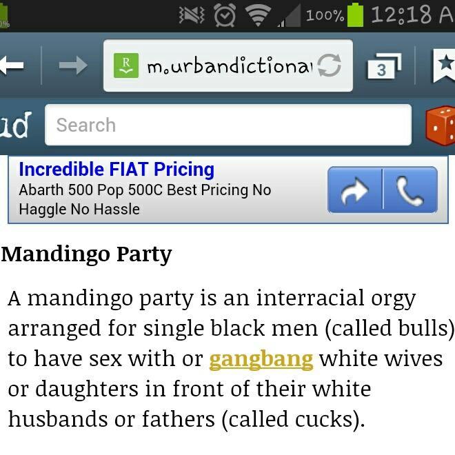 mandingo party definition