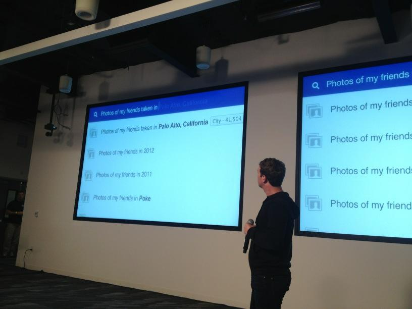 Zuck introducing Facebook Graph Search