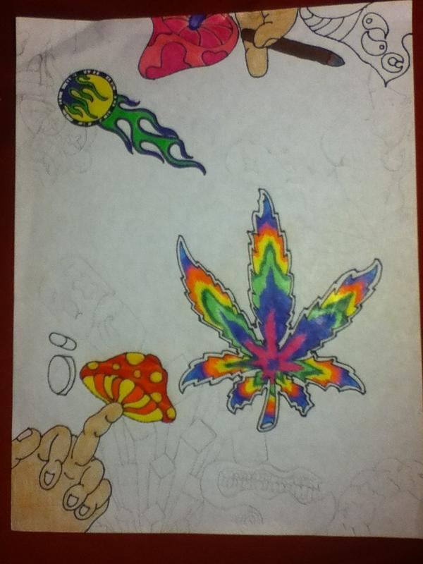 High Weed Drawing