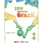 The Official Poster for the Brazil 2014 #worldcup has just been unveiled!