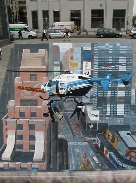 Vette 3D street art! http://t.co/pJbxCAPa