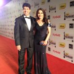 RT @MadhuriDixit1: Having fun at Filmfare! http://t.co/O0YJbyU4
