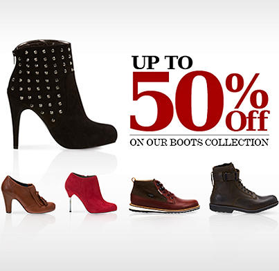 NAMSHI (@NamshiDotCom): Up to 50% OFF on our boots collection! Get offer now: http://t.co/V2cf5TjC http://t.co/O7J0zO8p