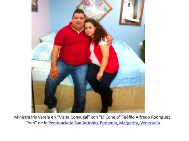 RT @alexvzlalibre: Iris Varela en visita conyugal con 'el conejo' Teofilo Alfredo 'PRAN' de la Penitencieria San Antonio Porlamar, Vzla. ...