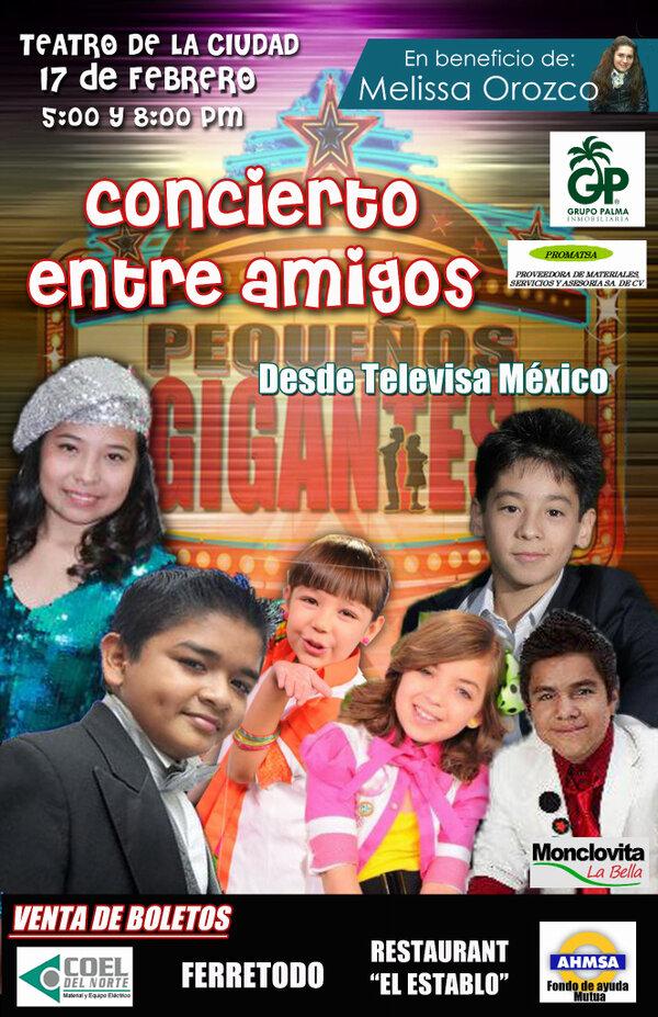 Magaby (@MagabyGaray): Hagan RT 17 de Febrero concierto a beneficio de @Melissasoy ciudad #monclova en teatro de la ciudad Pequeños gigantes! http://t.co/RatbMu5s