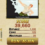 I got 39660 points while escaping from a Giant Demon Monkey in Temple Run 2. Beat that! http://t.co/YAisjSzN