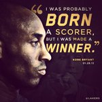 """I was probably born a scorer, but I was made a winner."" - @kobebryant #GoLakers"