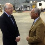 Interior Secretary Ken Salazar and #NASA Administrator Charlie Bolden at #Landsat launch center, Vandenberg AFB.