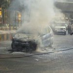 Fire in a car at King Circle…it has been doused, but traffic towards Sion is slow…#mumbaitrafficupdate http://t.co/5ntlOrfc