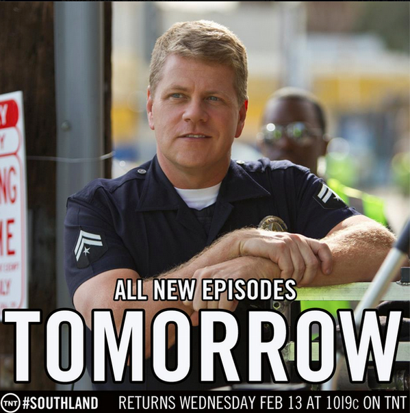 TOMORROW is the day that the #Southland crew returns to the streets of Los Angeles at 10/9c on TNT. Are you ready??? http://t.co/6RxTeqd6