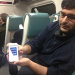 Getting pitched on the train by @zubinwadia. Check out @quipio, 65K downloads in a few days with zero marketing http://t.co/ZrDlzuxD