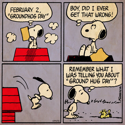 RT @Snoopy: Happy Groundhog Day! http://t.co/vfbi05sw