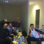 Me @mattylapinskas @shayneTward @luke11campbell watching the game!!!