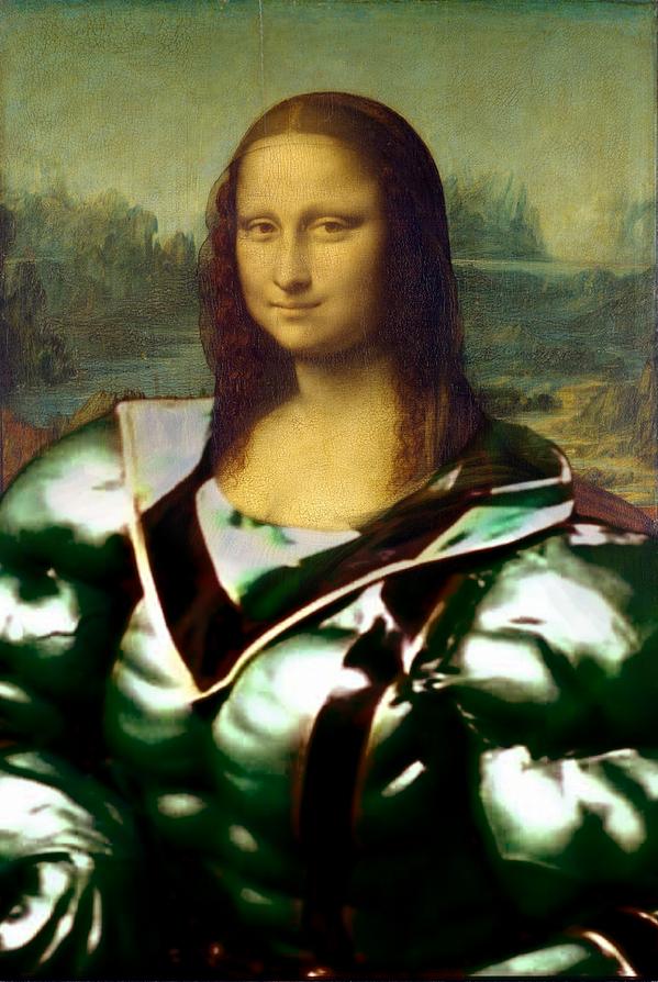名画「モナ・リザ」の体型をマジグリーン風にするとめっちゃムキムキになることが判明 http://t.co/TymMHKj1