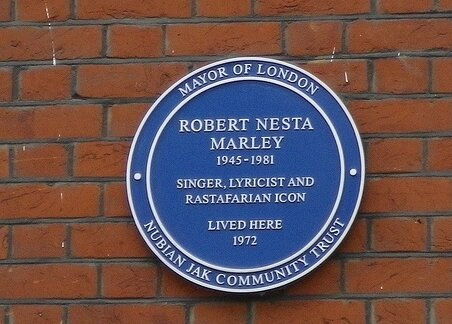 A little piece of London that\s forever jammin\. Happy birthday Bob Marley!