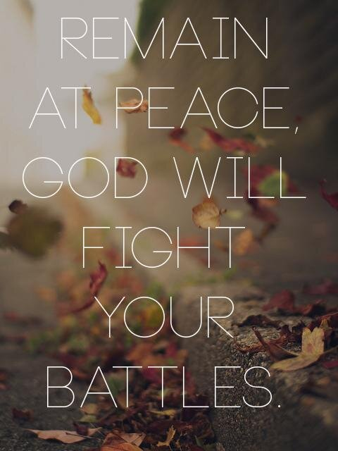 """The Lord will fight for you, and you shall hold your peace and remain at rest"" (Exodus 14:14, AMP) http://t.co/ZfFKJ42a"
