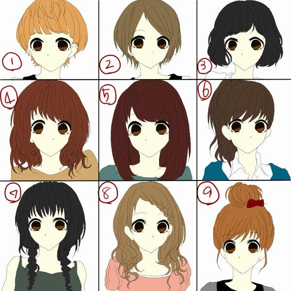 最新のヘアスタイル イケメン 髪型 イラスト   な髪型はどれ?