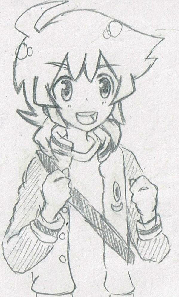 今日は森山さんじゃなくて、ダンボール戦機Wの大空ヒロ君描いてみた! まぁ、下手なのは分かってるんだけども。あれんじゃなん