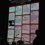 Twitter Wall meets Twitter Mirror @RebeccaMinkoff #RMFall #nyfw