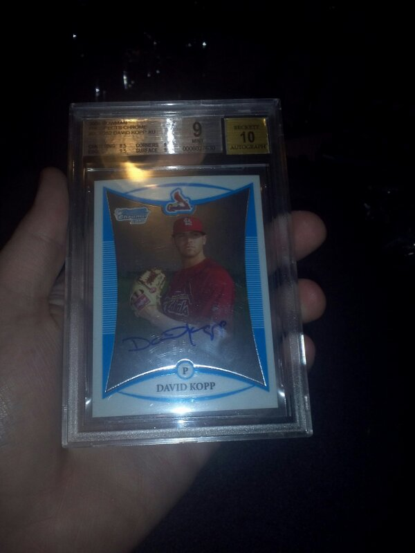 Trevor Colbert (@TrevBC9): FOLLOW & RT TO WIN: David Kopp Autograph BGS 9 @toppscards http://t.co/fHZlv1tJ