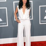 Wow! @rocsidiaz shut it down in 5th & Mercer jumper designed by me and @jason_bolden at the Grammys. You look HOT!