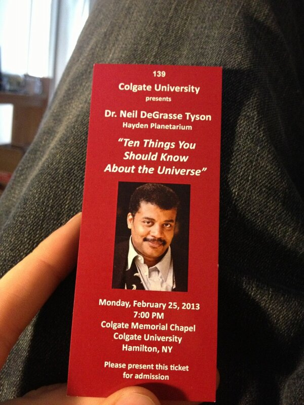 Neil deGrasse Tyson at Colgate (with images, tweets) · colgateuniv
