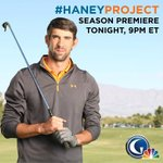 Who's excited to see @MichaelPhelps take on a new sport? The #HaneyProject premieres TONIGHT, 9PM ET on @GolfChannel!