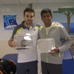 First title of the year and with a new partner  for this week. Thank u @colin_fleming was a pleasure playing with u.
