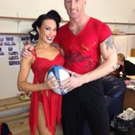 RT @IceJohnstone: @gareththomas14 and I before our number tonight love my partner  please vote xo http://t.co/9iqiRuSeD6