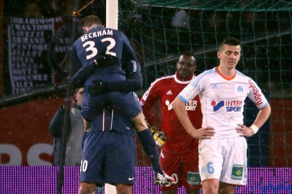 So hes not just there to sell shirts! Beckham impresses in his 15 minute PSG debut v OM
