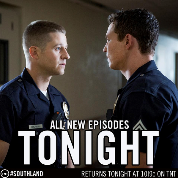 Need we say anything else? #Southland is back TONIGHT at 10/9c on TNT! http://t.co/oaX62CAl
