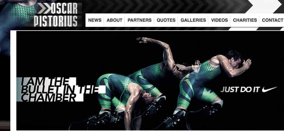Picture: Nike might want to reconsider their Oscar Pistorius slogan