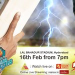 RT @KABulldozersccl: @KABulldozersccl  Vs @rhinos_chennai   The much awaited battle #ccl3 #hyderabad