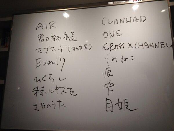 東浩紀が選ぶ名作美少女ゲーム…AIR、CLANNAD、君望、マブラヴ、沙耶の唄、ひぐらし、うみねこ、未来にキスを