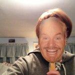 RT @cizatherine: Oh also I had this terrifying @JimGaffigan mask. http://t.co/CBlhsGyJ