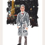 More on-the-fly sketches of #NYFW showgoers by Damien Florbert Cuypers. Here, @mrbradgoreski. http://t.co/rNh5HIW9