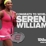 RT @WilsonTennis: Huge congrats to @SerenaWilliams on reaching World #1!
