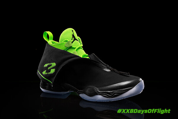 The AJ XX8's stealth-inspired design results in the lightest Air Jordan ever. #AJ28 #XX8DaysOfFlight http://t.co/EoXBmYlS