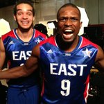 Getting ready for the 2013 #NBAAllStar Game with @luoldeng9 @joakimnoah