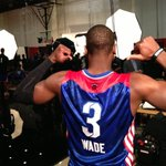 Getting ready for the 2013 #NBAAllStar Game with @dwyanewade