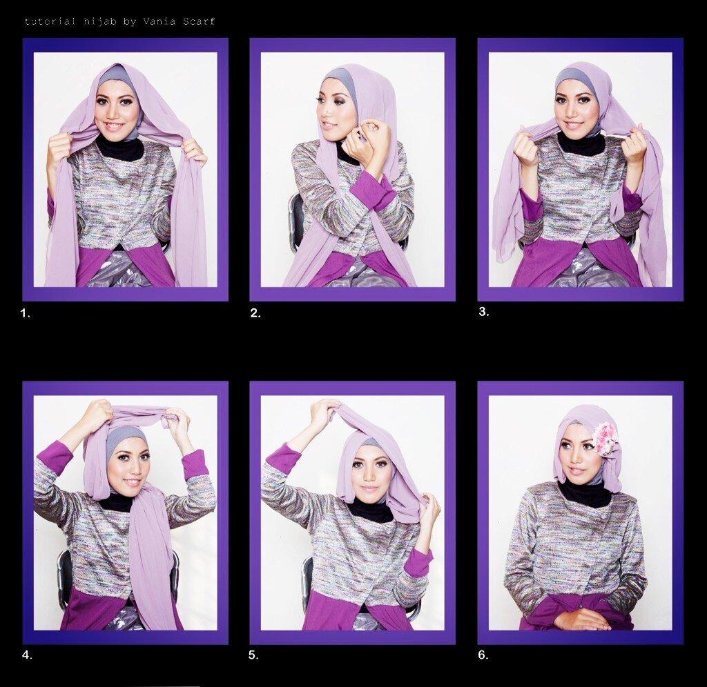 Trik Memakai Jilbab Trend