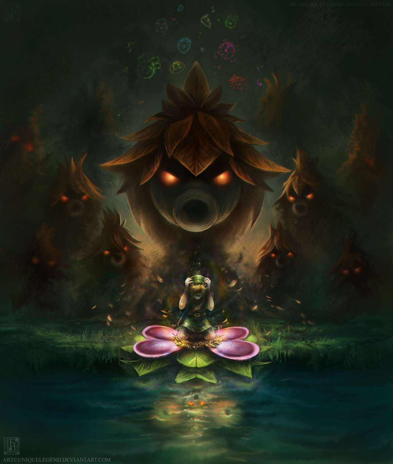 Check out this amazing Majora's Mask artwork by ZU staffer @uniqueLegendEL http://t.co/w0Ili9N9