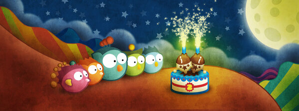 Now I'm feeling nostalgic :) Two years ago Tiny Wings was born and changed my life. Happy anniversary Tiny Wings! http://t.co/R0fT4vmx