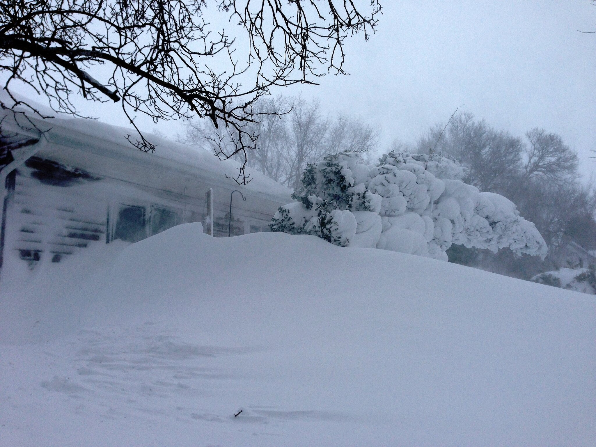 Massive Snow Drifts in Winnipeg Beach