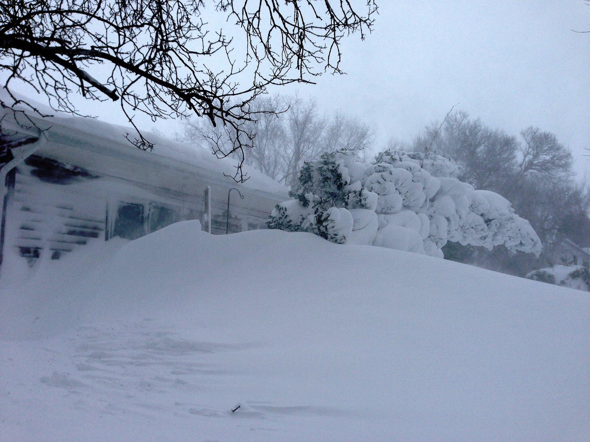 Massive Snow Drifts in Winnipeg Beach