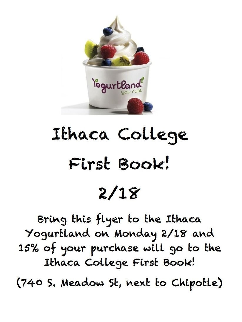 RT @ICFirstBook: Do you love @FirstBook? How about @YogurtlandInc? Come to our fundraiser today & show this flyer at the register! http://t.co/BOea9XnW