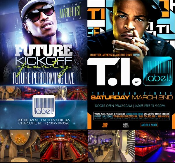 This Weekend In #CharlotteNC With @1future & @Tip @ The Hottest Nightclub @LableCharlotte #CIAAWeekend @ABEWOSSEN http://t.co/JjcoYo52Fd