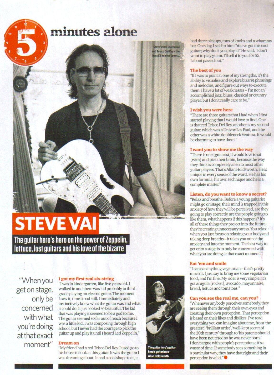 Steve talks Zeppelin, lettuce, lost guitars & his love of the bizarre in the March 2013 issue of Total Guitar UK Mag. http://t.co/V46UwlEG